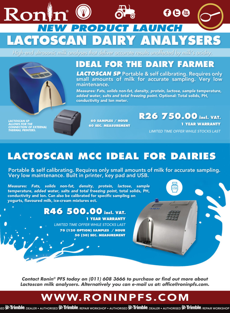 Lactoscan milk analysers